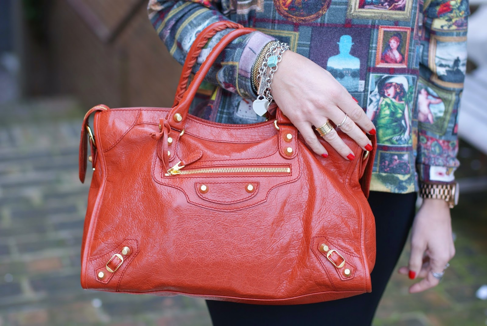 Balenciaga City rouge ambre, Fashion and Cookies, fashion blogger