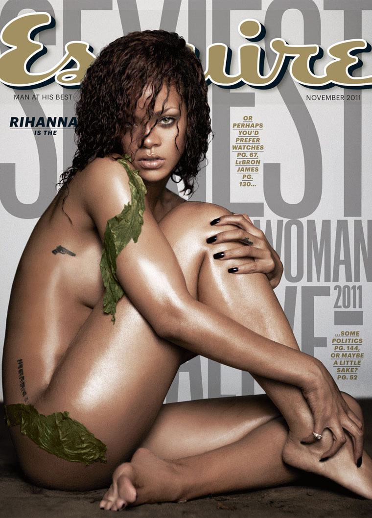 Rihanna Gets Naked For Esquire