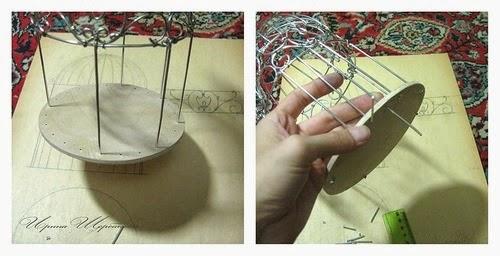Клетка декоративная своими руками мастер класс