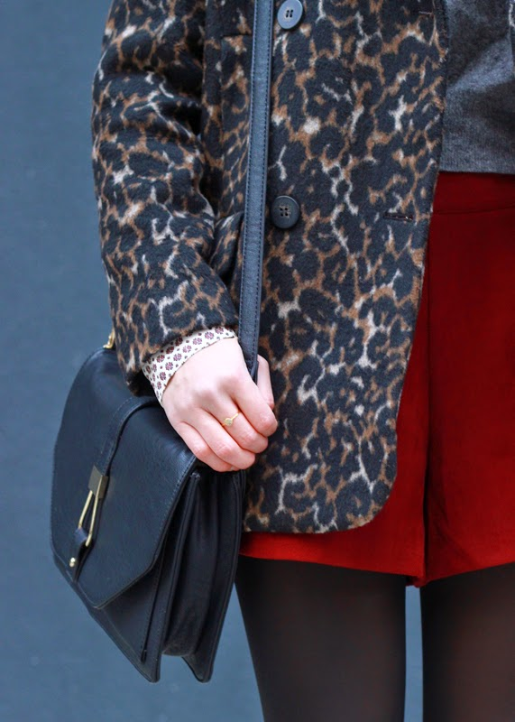 The Steele Maiden: Leopard Coat and Suede Shorts