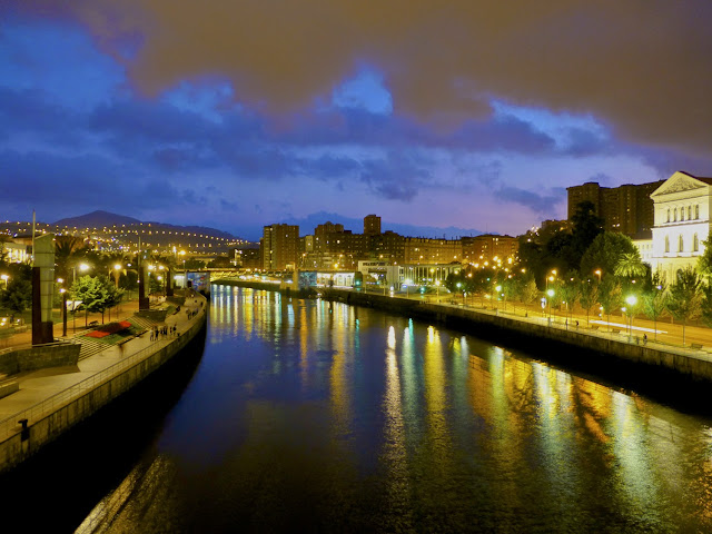 La Ría durante la Noche Blanca en Bilbao 2014