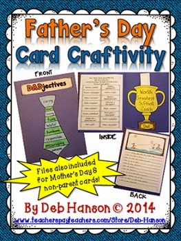 http://www.teacherspayteachers.com/Product/Fathers-Day-Card-Craftivity-includes-a-Mothers-Day-card-file-too-1200681