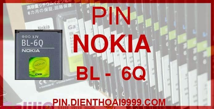 Pin Nokia BL-6Q  - Pin Nokia BL 6Q chính hãng - Giá 170.000 - Bảo hành: 6 tháng   - Pin Nokia BL 6Q Galilio dung lượng cao 1200mAh - Giá 140.000 - Bảo hành: 6 tháng   - Pin tương thích với điện thoại Nokia 6700c  Thông số kĩ thuật: - Pin BL 6Q được thiết kế kiểu dáng và kích thước y như pin nguyên bản theo máy, Pin tiêu chuẩn, chất lượng như pin theo máy. - Kích thước: 40 x 38 x 6.3mm - Dung lượng: 1200 mah - Điện thế: 3.7V - Công nghệ: Pin Li-ion Battery  Mô tả sản phẩm: - Pin Galilio nhờ nghiên cứu và phát triển công nghệ lithium nên đã đạt được pin dung lượng cao nhất cho phép (từ 1,5- 2 lần) nhưng vẫn đảm bảo được chất lượng cao, đã vượt qua nhiều tiêu chuẩn chất lượng như ISO 9001, ISO 1400I, CERTIFICATED, hãng cũng ứng dụng Công Nghệ an toàn mà những hãng pin khác không có được: Controller IC, Control swithches, Temperature Fuse.. - Thiết kế kiểu dáng và kích thước y như pin nguyên bản theo máy, thuận tiện và dễ dàng thao tác, pin dung lượng cao cung cấp đủ nguồn điện cho máy sử dụng được trong thời gian dài, có thể mang đi bất cứ đâu để phòng khi pin của máy bạn hết mà không có điều kiện để sạc. - Cho phép bạn giữ các cuộc nói chuyện và bảo đảm cho bạn không bỏ lỡ các cuộc gọi điện thoại quan trọng - Pin sạc bằng cách gắn vào điện thoại và sạc như pin gốc - Sản phẩm đạt tiêu chuẩn tuyệt đối về an toàn cháy nổ - Bảo hành đổi pin mới trong 6 tháng.  GIAO HÀNG VÀ BẢO HÀNH TẬN NHÀ Quý khách có nhu cầu mua pin,  hãy liên hệ với chúng tôi: 0904.691.851 - 0976.997.907  Website: http://pin.dienthoai9999.com Mua số lượng lớn: 0942299241  - Hướng dẫn sử dụng, bảo quản pin: http://pin.dienthoai9999.com/p/huong-dan-su-dung-pin - Quy định bảo hành: http://pin.dienthoai9999.com/p/quy-dinh-bao-hanh-pin - Khách hàng góp ý: http://pin.dienthoai9999.com/p/khach-hang-gop-y  Xem thêm pin cùng loại:  - - -   Một số điện thoại dùng được pin Nokia BL 6Q:   Nokia 6700c : Đơn giản mà tinh tế   Đặc biệt nhất trong số đó là chiếc điện thoại Nokia 6700 Classic, với chất liệu kim loại ca