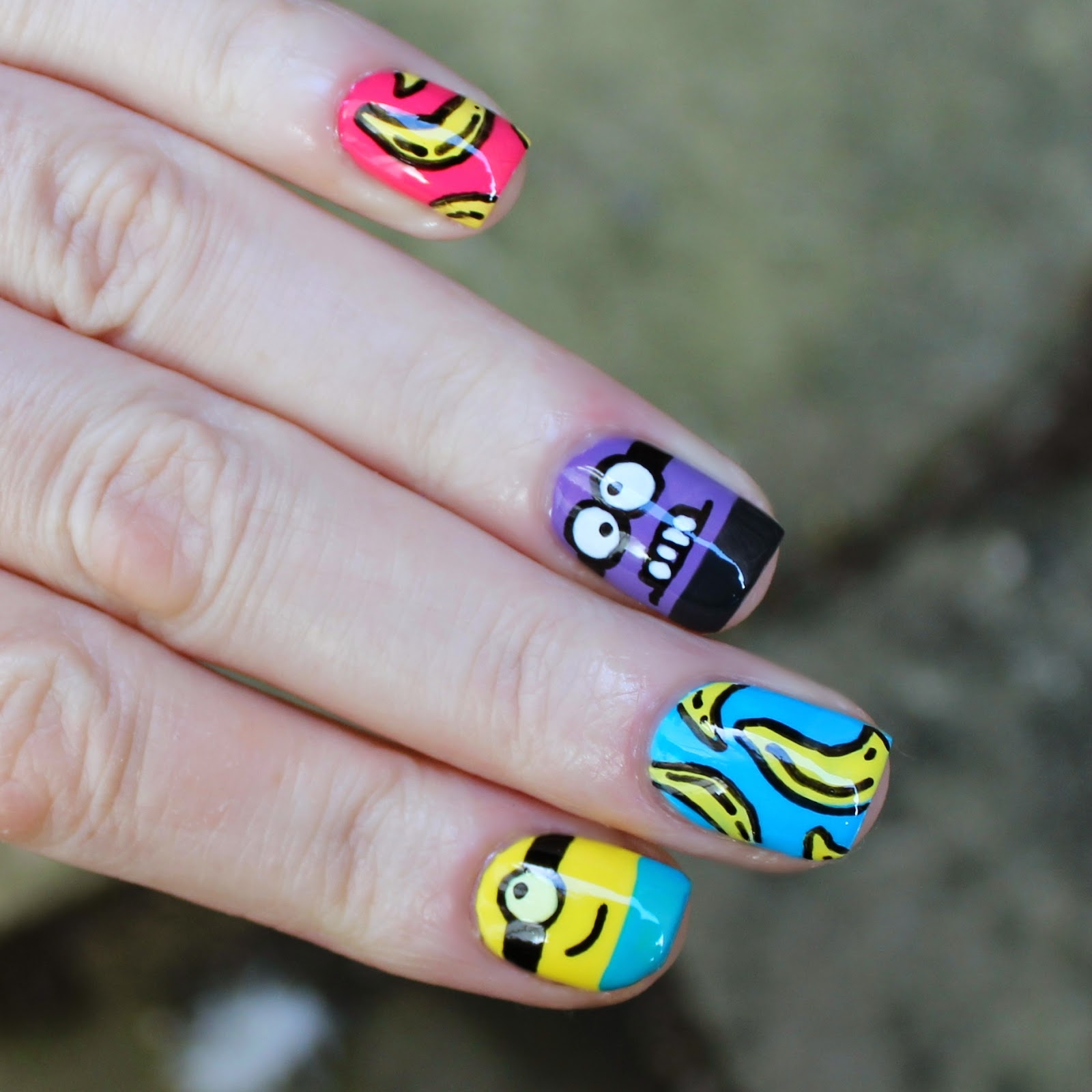 minion rush nails
