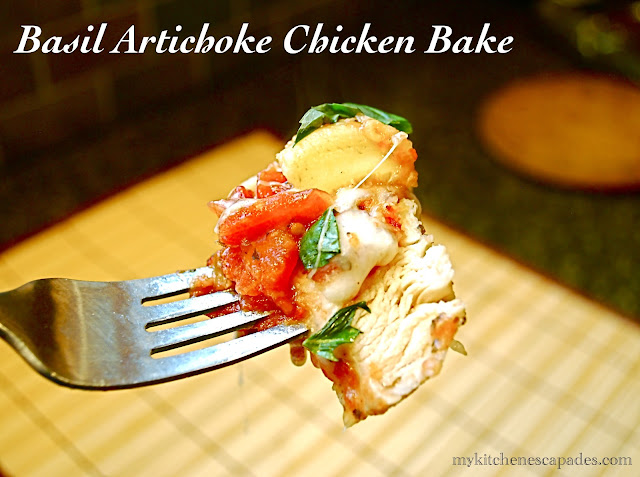 Basil Artichoke Chicken Bake