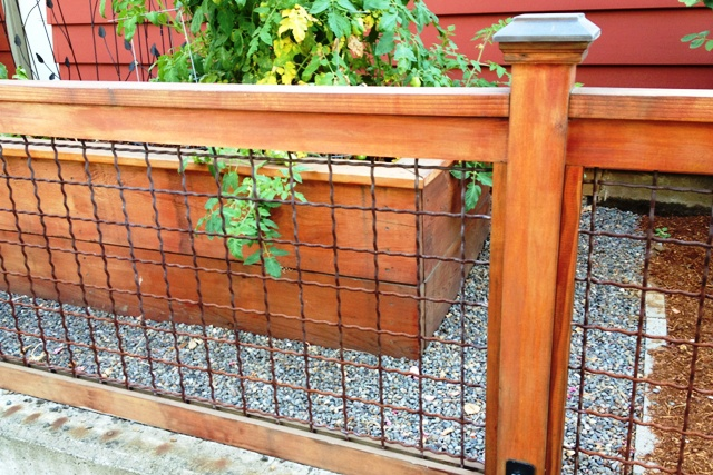 ... wire fence with wood frame found on homes yahoo com hog panel fence