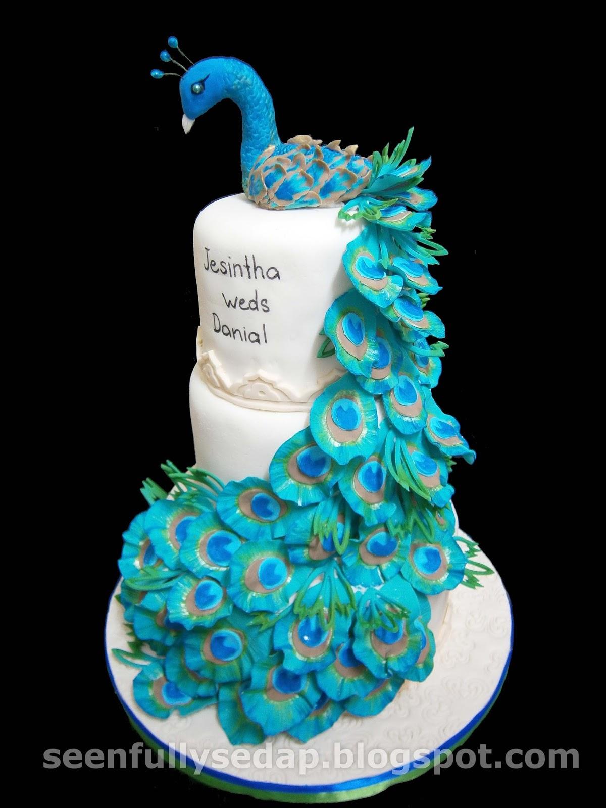 Seenfully Sedap Peacock Wedding Cake Jessy Dass