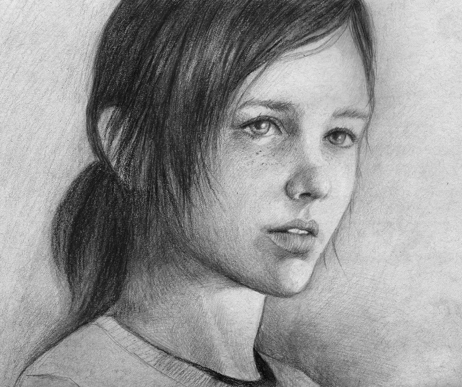 Ellie Drawing Drawing of Ellie in The Last