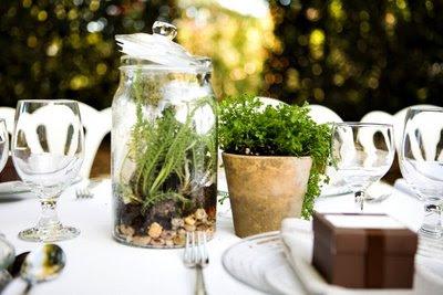 decoracion de boda con terrarios