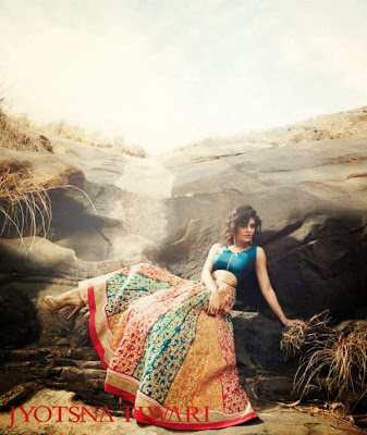 Jacqueline Fernandez's Photoshoot for Jyotsna Tiwari Couture collection 2013