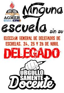 AGMER convoca a elección de delegados 2017