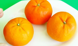 Art In Mandarin Orange Flower – Fruit Carving   Clementine Sunflower Garnish   Fruit Decoration