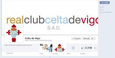 Página no oficial de seguidores celestes en Facebook