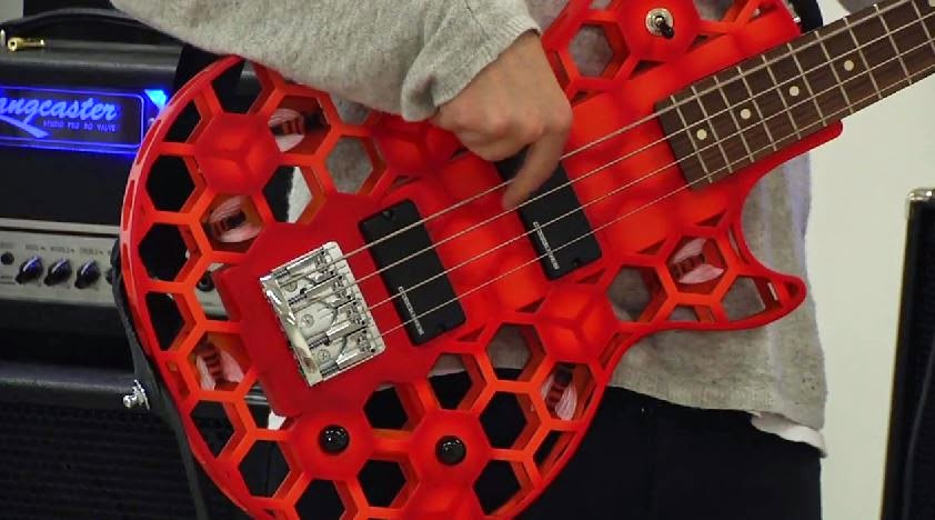 3D printed guitar musical instrument