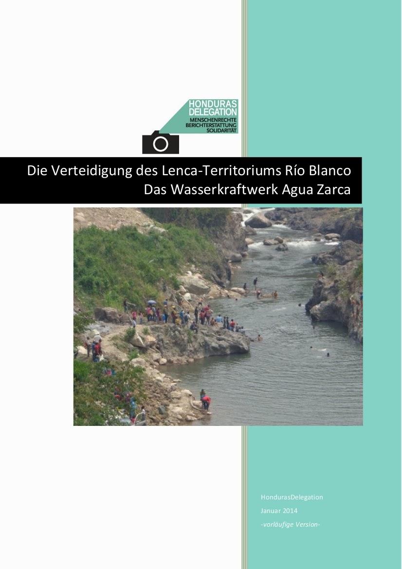 Studie zu Staudamm Agua Zarca in Rio Blanco