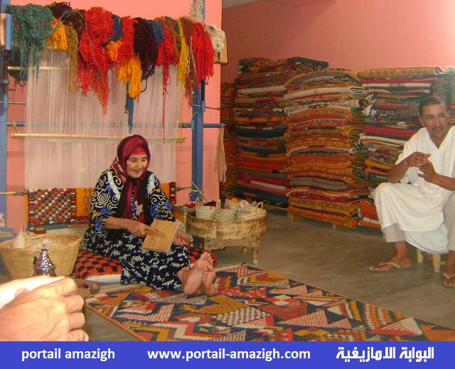الزربية الامازيغية (البربرية) .. إحدى مظاهر الحضارة الامازيغية  tapis berbers