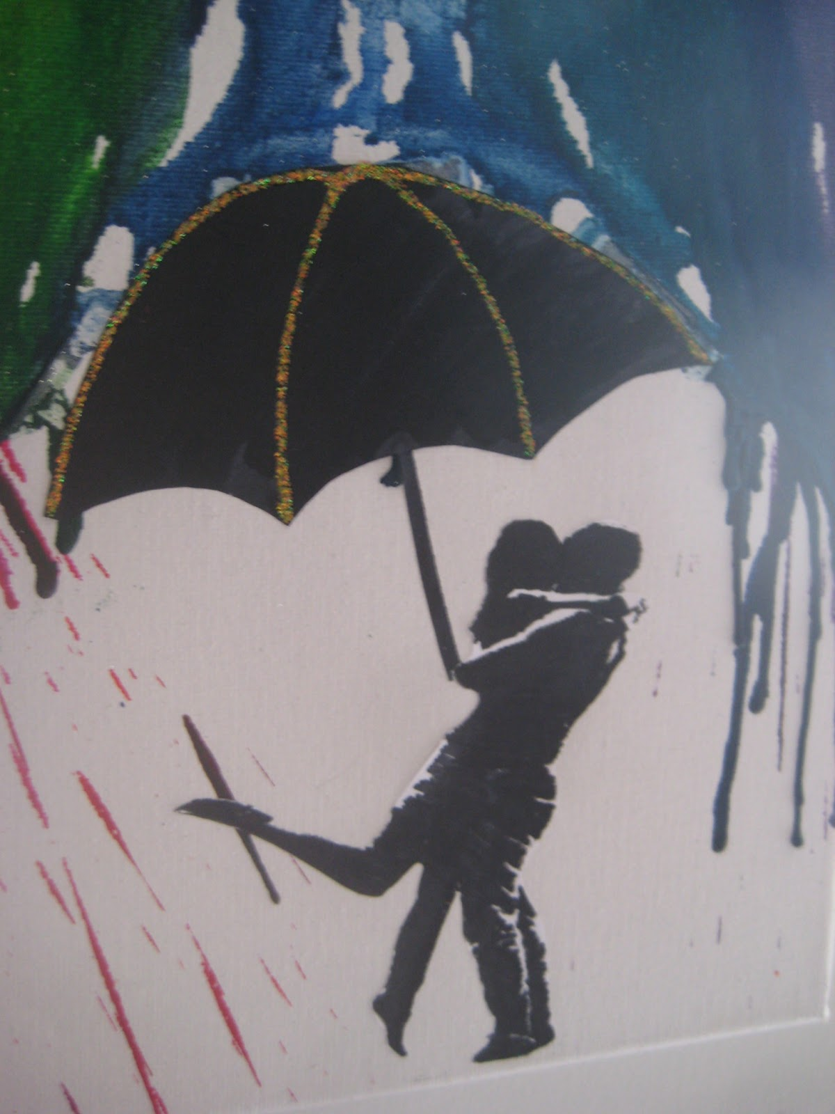 Couple Kissing Silhouette Umbrella I wanted a silhouette photo Couple Silhouette Umbrella Crayon Art