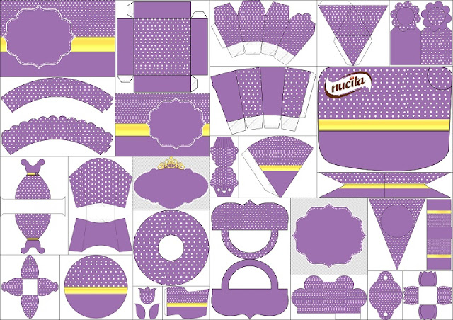 Gold and Purple Free Printable Kit.