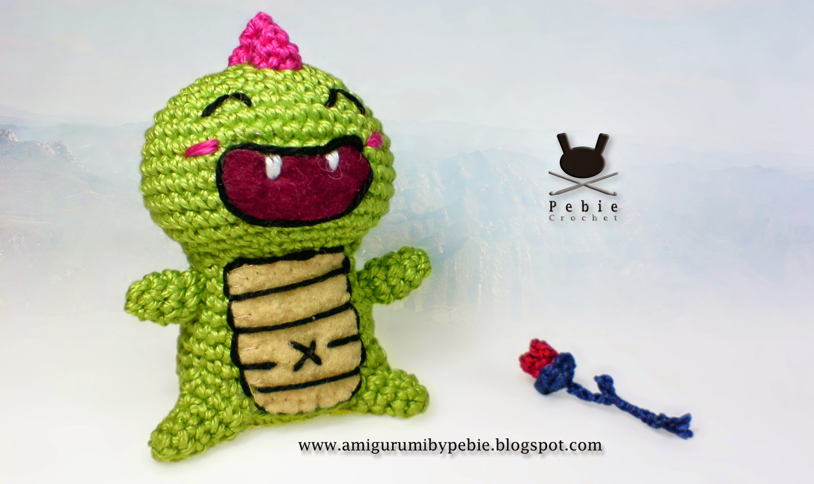 Dragon Azul Amigurumi : Funny Amigurumi by Pebie: New free pattern: Joanet, the dragon