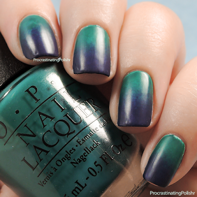 Gradient All The Nails! Green - Purple gradient