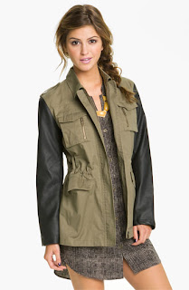 Nordstrom Blu Pepper Faux Leather Utility Jacket