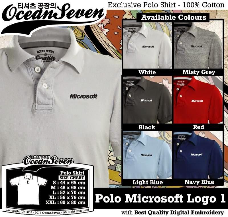 Kaos Polo Microsoft Logo 1