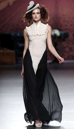Alma Aguilar vestido fiesta 2011 2012
