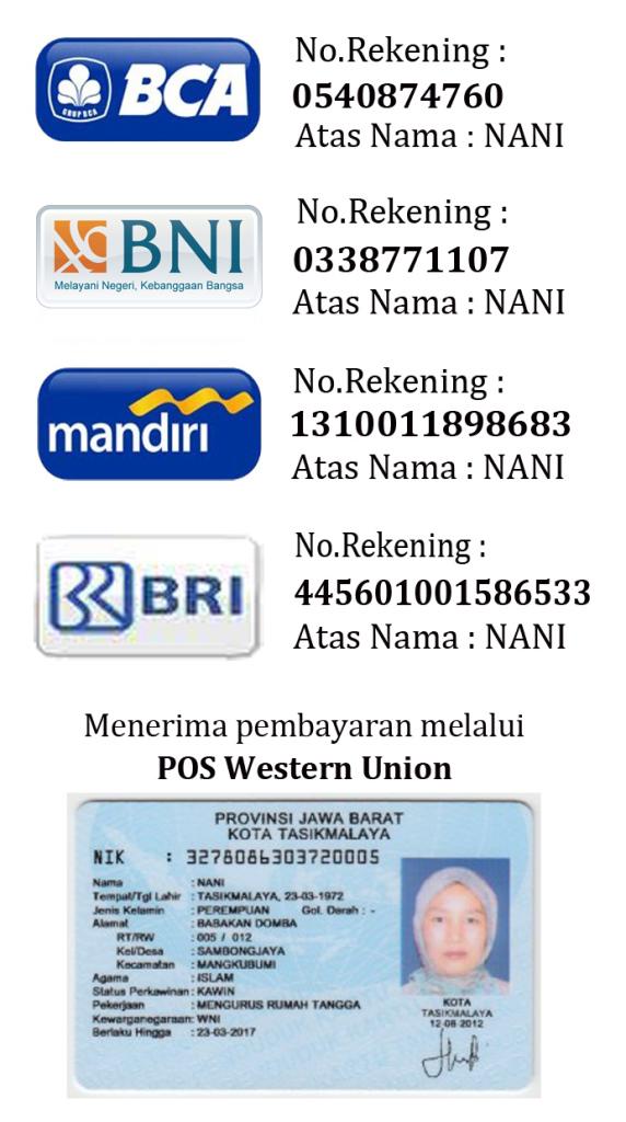 No Rekening Pembayaran