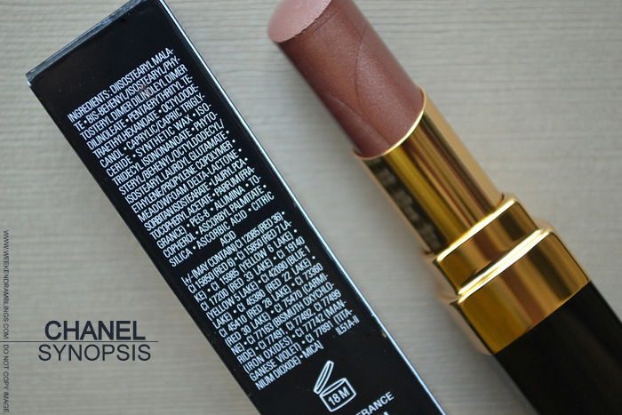 Rouge Coco Shine Lipstick Synopsis 82 - Avant Premiere de Chanel Makeup Collection - Photos Swatch Review FOTD Ingredients