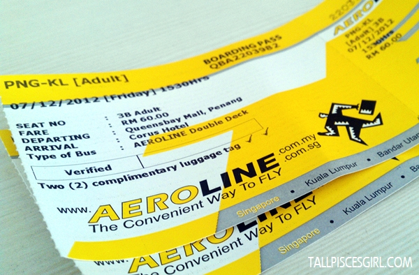 Aeroline bus ticket