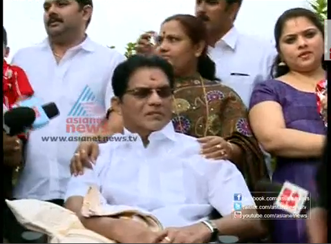 Jagathy Infront of Camera