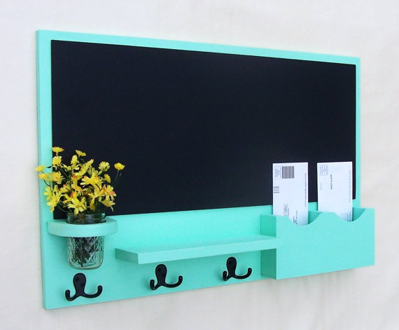 Chalk Board Mail Holder