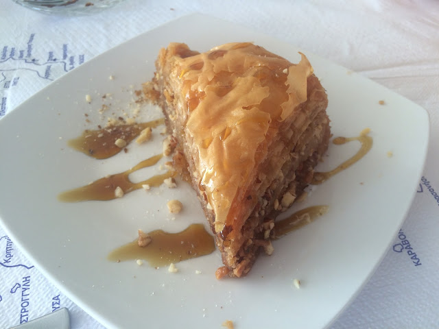 Baklava at Taverna Manolis in Kolimbia, Rhodes, Greece