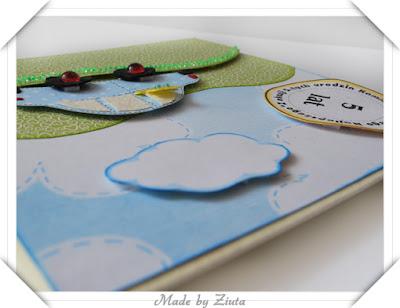scrapbooking kartka dla dziecka kartka samochód