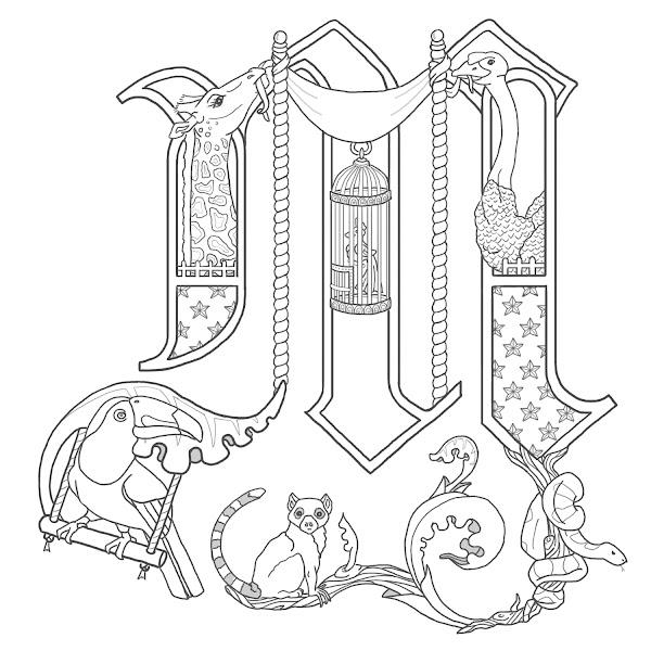 Illuminated Letters Alphabet M