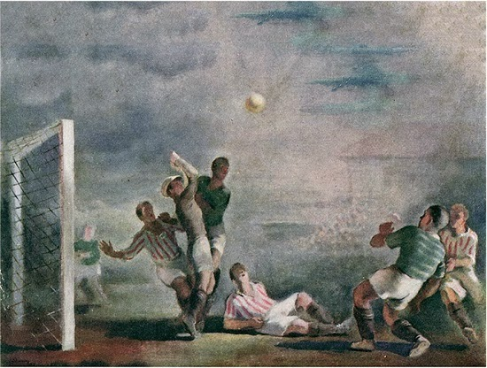 """Obraz Pawła Dadleza """"Walka o piłkę"""" z 1936 r. - domena publiczna"""