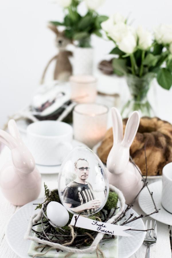 Tischdeko selber machen zu Ostern