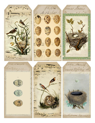 Bugs and fishes by lupin lots of gorgeous free printable gift tags vintage bird inspired tags from lilac lavender negle Gallery