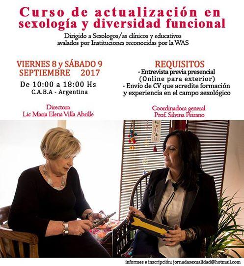 """""""CURSO de ACTUALIZACIÓN en SEXOLOGIA y DIVERSIDAD FUNCIONAL"""""""