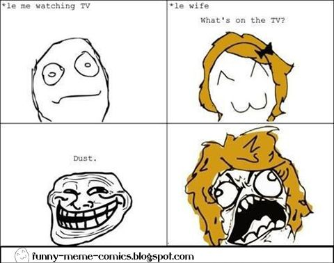 troll face rage comics