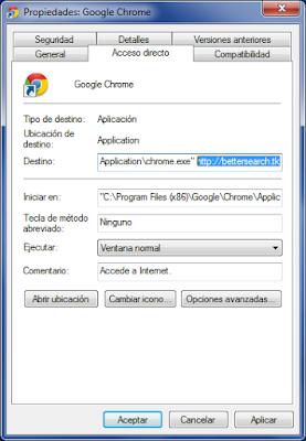 Malicious shortcut Bettersearch.tk