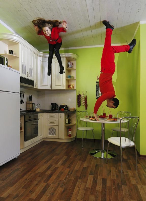 Casa invertida en Rusia desafía la gravedad