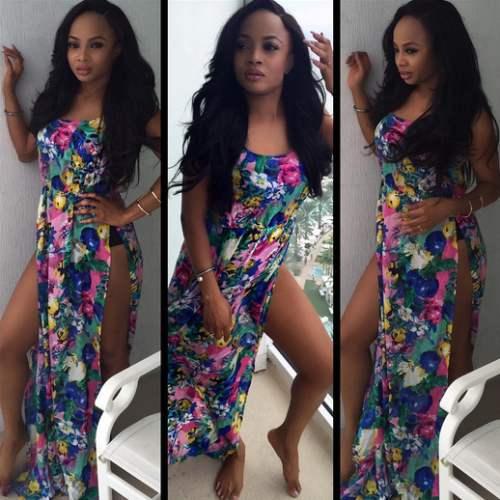 Toke Makinwa sizzles in beach wear as she holidays in Miami Untitled