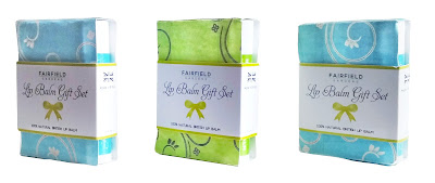Group of Fairfield Gardens Lip Balm Trio Gift Sets