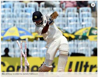 Murali-Vijay-bowled-IND-vs-AUS-1st-Test