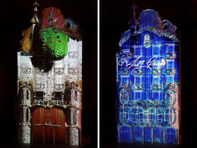 Projection d'animation sur la façade de la Casa Batllo