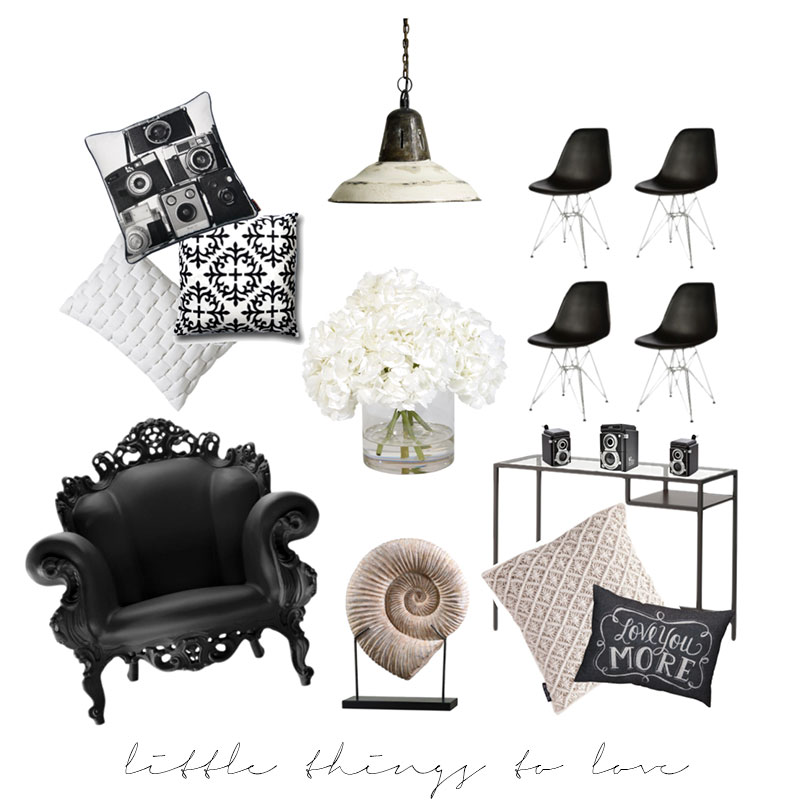 interior, inspo, kollage, black white, pillows, industi, shell