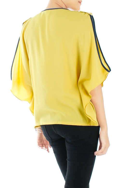 Flyaway Slouchy Top with Cut Sleeves