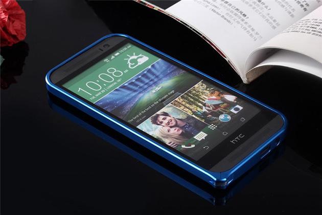 Bumper M8 จาก Hanshen ของแท้ แถมฟิล์มกันรอยแท้ฟรี รหัสสินค้า 108009 สีน้ำเงิน