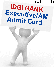 IDBI Admit Card 2015 for Executive Post Tentative Date of Written Test 11.07.2015. IDBI Bank AM Admit Card 2015 For the Exam 02.08.2015. www.idbi.com Executive Exam Call Letter 2015, IDBI Executive Online Exam Call Letter Download, IDBI Bank Admit Card 2015 Online